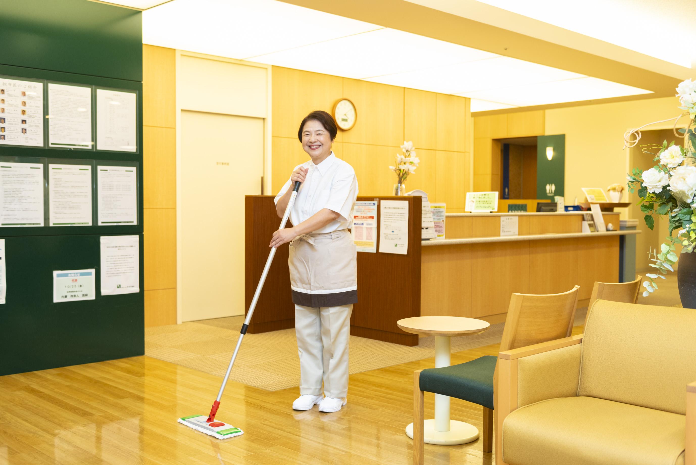 清掃スタッフ募集(小矢部市)#午前だけ#週3日~#シニア歓迎
